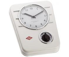 Wesco 322 401-01 Classic Line - Reloj de cocina, color blanco