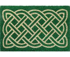 Entryways Felpudo de Fibra de Coco Antideslizante para Laberinto, Verde, 40 cm x 60 cm x 15 mm