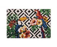 Excelsa Tropical Felpudo Entrada, Fibra de Coco, Multicolor, 40Â x 60Â cm