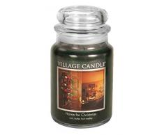 Village Candle Home - Tarro de cristal (10 x 10,1 x 11,6 cm), color verde, vidrio, Verde, 10.2 x 10.1 x 13.9 cm