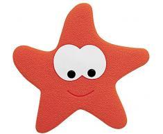 Spirella colección Starfy, Alfombrilla de Ducha 5PCS Set,PVC,Rojo