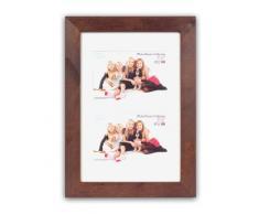 Inov8 - Marco para fotos (madera de roble, 30,4 x 20,3Â cm, para dos fotos de 15,2 x 10,1Â cm), roble oscuro