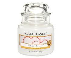 Yankee Candle vela en tarro pequeño, Nieve y amor