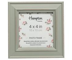 Hampton Frames Paloma - Marco de Fotos Cuadrado, Madera, Salvia, 4x4 (10x10cm)