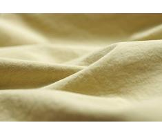 L1NK STUDIO Funda Almohada Cama de 135 cm (45X155cm) 100% algodón (Percal 200 Hilos) Yellow