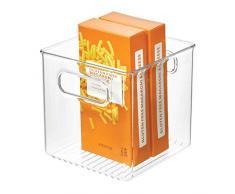 InterDesign Cabinet/Kitchen Binz Caja organizadora, Organizador de Cocina Mediano en plástico, cajón para frigorífico, Transparente