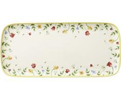 Villeroy & Boch Spring Awakening Fuente para Tartas, Porcelana, Fuente para Tartas, Flores, Blanco/Colorido, 35x16 cm