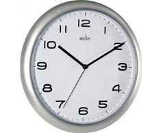 Acctim 92/ 307 Aylesbury Reloj de pared, color plateado