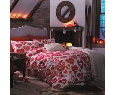 Catherine Lansfield Hearts - Juego de funda nórdica para cama de 90 cm