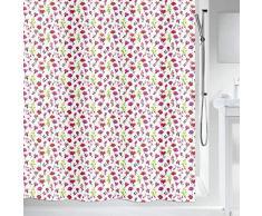 Spirella colección Mille Fleurs, Cortina de Ducha Textil 180 x 200, 100% Polyester, Rosa, Tela, x cm