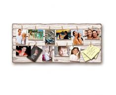 Lupia Marco de Fotos para Colgar, Shabby Brown Board 40Â x 90 cm
