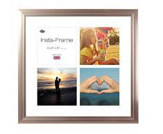 Inov8 16 x 40,64 cm Insta-Frame Marco para Instagram 4/de estampado a cuadros de fotos con paspartú blanco y blanco con borde, peltre 53