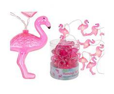OOTB Guirnalda de Luces LED, Flamingo, Rosa, 13 x 12 x 13 cm