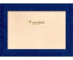 Natalini BIANTE Turchese 10X15 Marco de Fotos con Soporte para Mesa, Madera, Azul, 10 X 15 X 1,5