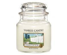Yankee Candle vela en tarro mediano, Algodón blanco