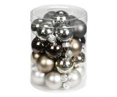 Inge-glas 15090D001 - Bolas de Navidad, 30 mm, 28 unidades, colores variados en tonos grises