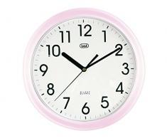 Trevi OM 3301 - Reloj de pared silencioso de 25.5 cm con maquinaria de cuarzo, color rosa
