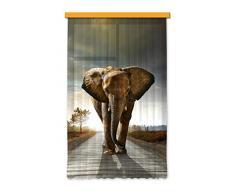 Diseño AG FCS L 7507 cortina, cortina, ropa, cortinas Photo Print Elefant, 140 x 245 cm, 1 pieza