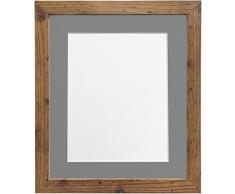Frames by Post Marco de Fotos, 25 mm de Grosor, H7, Color Blanco, Madera, Rustic Oak, 14 x 11 Inch Image Size A4
