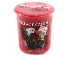 Village Candle Vela Votiva con Aroma Solo para Ti, Cera, Rojo, 4.9x4.5x5.3 cm