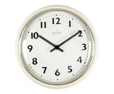 Acctim 27052 Delia Time Reloj de pared metálico, color crema