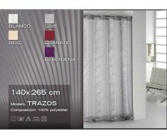 Export Trading Trazos Cortina, Tela, Gris, 265x140x0.5 cm