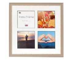 Inov8 16 x 40,64 cm tamaño pequeño Insta-Frame Marco para Instagram 4/de Estampado a Cuadros de Fotos con paspartú Blanco y Negro con Borde, se Debe Lavar a Suave Piedra