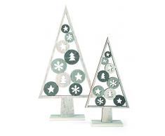 Small foot 10206 Árbol Decorativo Navidad 2 unidades, diseño decoración navideña, madera, gris, 17.00 x 5.00 x 33.00 cm