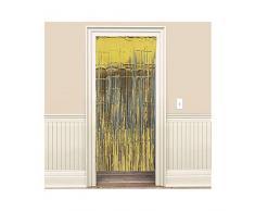 Oro metálico brillo cortina
