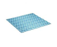 TATAY 5510100 - Alfombra antideslizante para ducha o bañera con diseño de peces, 54 x 54 cm, azul translúcido