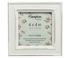 Hampton Marcos Paloma Cuadrado Marco de Fotos, Madera, Blanco, 14,5 x 14,5 x 2,5 cm