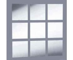 Super Cool Creations Azulejos de Espejo acrílico, Paquete de 20 10 x 10 cm.