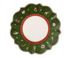 Villeroy & Boch 14-8585-2661 Plato para Pan Toys Delight, para Navidad, 17 cm, Porcelana, Verde, 18.5x18.0x7.5 cm