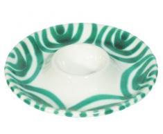 Gmundner 0100BEGL12 - Huevera, 12 centímetros, color verde y blanco