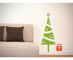 DuDecor Christmas vinilos adhesivos paradas y arranques Navidad árbol verde