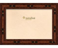 Natalini E320 13X18 Marco de Fotos con Soporte para Mesa, Madera, marrón, 13 X 18 X 1,5