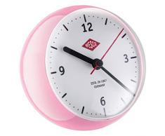 Wesco 322411 – 26 Mini Clock Reloj de cocina, plástico, rosa, 12 x 12,5 x 12 cm