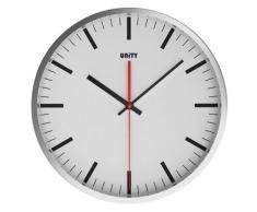 Unity Abberton - Reloj de pared silencioso, color blanco