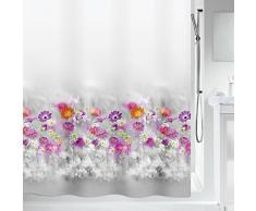 Spirella colección Abella, Cortina de Ducha Textil 180 x 200, 100% Polyester, Multicolor, poliéster, Grey/Pink, 200x180 cm