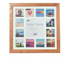 Inov8 16 x 40,64 cm Insta-Frame Kayla marco para Instagram 13/de estampado a cuadros de fotos con paspartú blanco y negro con borde, blanco