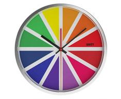 Unity Tabor - Reloj de pared silencioso, multicolor