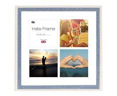 Inov8 16 x 40,64 cm Insta-Frame Austen Marco para Instagram 4/de Estampado a Cuadros de Fotos con paspartú Blanco y Blanco con Borde, 2 Unidades, Azul se Debe Lavar a