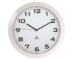 ALBA Reloj de Cuarzo de Pared, Cristal, Blanco, 38.5x38.5x5.5 cm