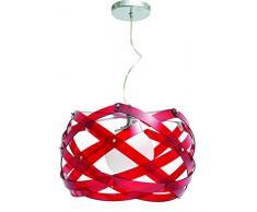 Interfan Nido - Lámpara colgante, color rojo