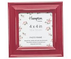 Hampton Frames - Marco de Fotos Cuadrado (10 x 10 cm), Color Rojo