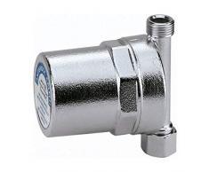 Caleffi - Antishock - Amortiguador de Golpe de ariete para tubería, para fregaderos, lavabos y lavadoras, conexión 3/8F para Rosca 3/8 M - Cromado - Modelo n. 525130