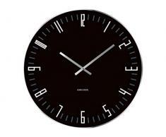Present Time KA4462 - Reloj analogico de pared de cuarzo - negro