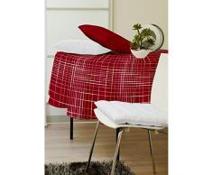 Soleil docre Mlance Burny - Mantel Encerado Redondo (160 cm), Color Rojo