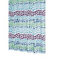 Ridder 323250-350 Layer - Cortina de ducha (180 x 200 cm, incluye enganches), color verde y azul