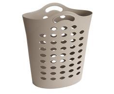 Sundis Flexy Bag Taupe Cesta para la Ropa Flexible para Coger con Una Sola Mano, Cappuccino